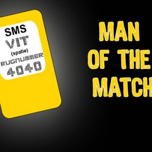 Tussenstand Man of the Match
