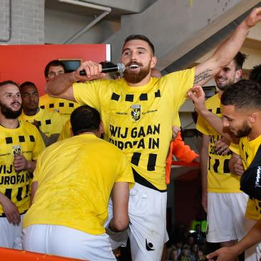 Feest na winst in play-offs